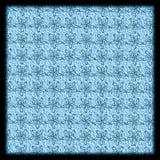 teste padrão floral azul textured drawnd da mão Imagem de Stock Royalty Free