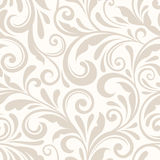 Teste padrão floral bege sem emenda do vintage Ilustração do vetor Imagem de Stock Royalty Free