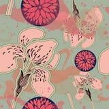Teste padrão floral bonito Foto de Stock Royalty Free