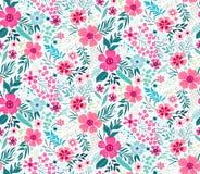 Teste padrão floral bonito Fotografia de Stock