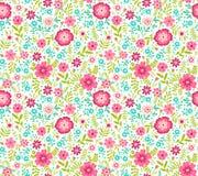 Teste padrão floral bonito Imagens de Stock Royalty Free