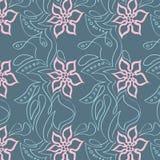 Teste padrão floral brilhante Fotos de Stock Royalty Free