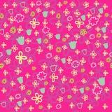 Teste padrão floral brilhante Imagens de Stock Royalty Free