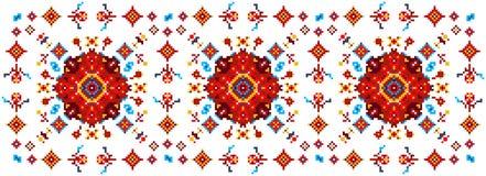 Teste padrão floral brilhante para cruz-costurar Imagem de Stock