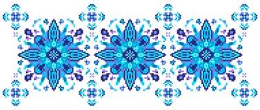 Teste padrão floral brilhante para cruz-costurar Foto de Stock Royalty Free