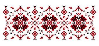 Teste padrão floral brilhante para cruz-costurar Fotos de Stock