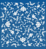 Teste padrão floral chinês Fotos de Stock