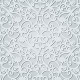 Teste padrão floral cinzento Imagem de Stock