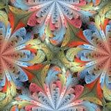Teste padrão floral colorido no estilo da janela de vidro colorido Você c imagem de stock royalty free