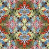 Teste padrão floral colorido no estilo da janela de vidro colorido Você c fotografia de stock royalty free