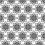 Teste padrão floral com estrelas Fotos de Stock