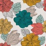 Teste padrão floral com flores Foto de Stock