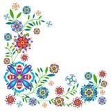 Teste padrão floral com flores e folhas Fotografia de Stock Royalty Free