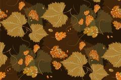 Teste padrão floral com folhas e bagas Fotografia de Stock Royalty Free