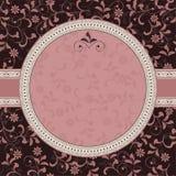 Teste padrão floral com frame Fotos de Stock Royalty Free