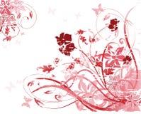 Teste padrão floral cor-de-rosa ilustração do vetor