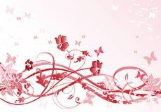 Teste padrão floral cor-de-rosa ilustração royalty free