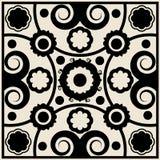 Teste padrão floral Curly Foto de Stock