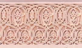 Teste padrão floral da alvenaria na parede Foto de Stock