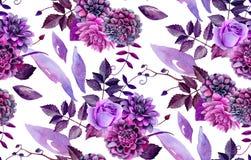 Teste padrão floral da aquarela Imagem de Stock