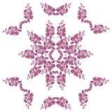Teste padrão floral da aquarela com galho roxo Foto de Stock Royalty Free