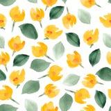 Teste padrão floral da aquarela Fundo do vetor Imagem de Stock