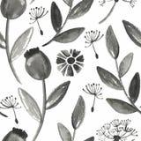 Teste padrão floral da aquarela sem emenda do vetor ilustração do vetor