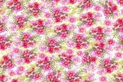 Teste padrão floral da aquarela sem emenda imagens de stock