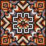 Teste padrão floral da arte do pixel em cores desaturated Fotografia de Stock Royalty Free
