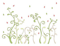 Teste padrão floral da cor Fotografia de Stock