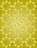 Teste padrão floral da cor dourada Foto de Stock