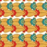 Teste padrão floral da cor indiana ilustração do vetor