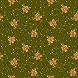 Teste padrão floral da garatuja abstrata Contexto verde Foto de Stock Royalty Free