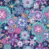 Teste padrão floral da garatuja do verão Imagem de Stock Royalty Free