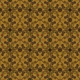 Teste padrão floral da mola em cores do sepia Fotografia de Stock Royalty Free