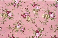 Teste padrão floral da tela da textura do fundo Fotografia de Stock Royalty Free