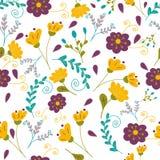 Teste padrão floral das matiz do jardim Imagens de Stock