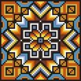 Teste padrão floral de costura em cores desaturated Fotografia de Stock