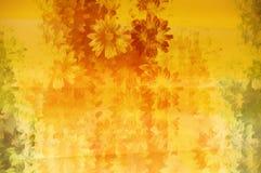 Teste padrão floral de Grunge Imagens de Stock Royalty Free