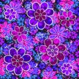Teste padrão floral de Grunge Imagens de Stock