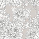 Teste padrão floral de Veamless Fotografia de Stock Royalty Free