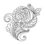 Teste padrão floral de Zentangle Foto de Stock Royalty Free
