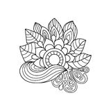 Teste padrão floral de Zentangle Foto de Stock