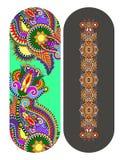 Teste padrão floral decorativo étnico de paisley para o bracelete feito Foto de Stock Royalty Free