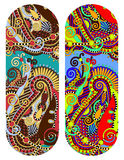 Teste padrão floral decorativo étnico de paisley para o bracelete feito Fotografia de Stock
