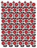 Teste padrão floral decorativo Fotografia de Stock Royalty Free