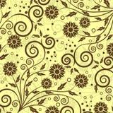 Teste padrão floral decorativo,   ilustração do vetor