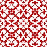 Teste padrão floral decorativo ilustração stock