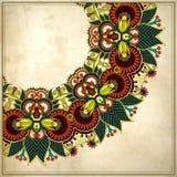 Teste padrão floral decorativo do círculo no grunge Fotografia de Stock Royalty Free