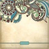 Teste padrão floral decorativo no fundo do grunge Imagem de Stock Royalty Free